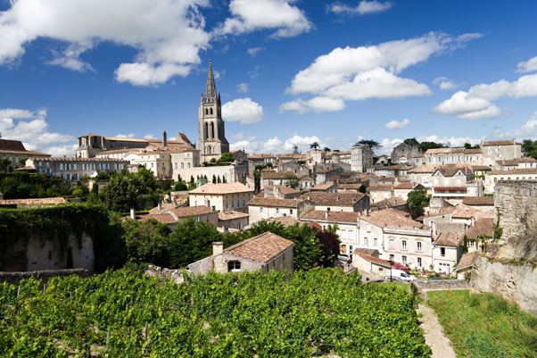 The hill top town of St Emilion